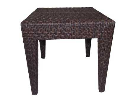 Hospitality Rattan Outdoor Soho Wicker 19 Square End Table