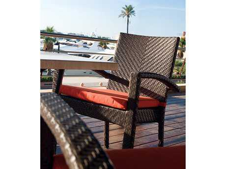 Hospitality Rattan Outdoor Soho Wicker Stackable Dining Arm Chair