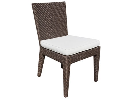 Hospitality Rattan Outdoor Soho Wicker Dining Side Chair