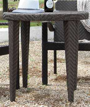Hospitality Rattan Outdoor Soho Wicker 30 Round Woven Dining Table