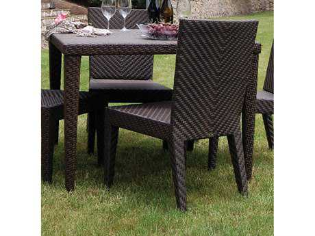 Hospitality Rattan Outdoor Soho Wicker 40 Square Woven Dining Table