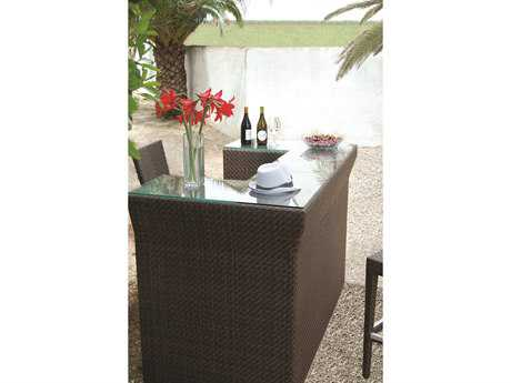 Hospitality Rattan Outdoor Soho Wicker 60 x 30 Rectangular Bar Table