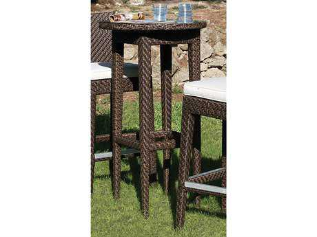 Hospitality Rattan Outdoor Soho Wicker 24 Round Table Woven Pub Table