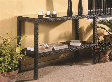 Hospitality Rattan Outdoor Soho Wicker 48 x 18 Rectangular Console