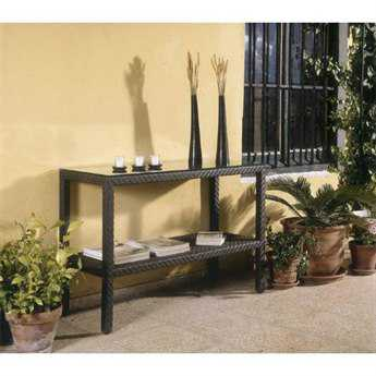Hospitality Rattan Outdoor Soho Wicker 48 x 18 Rectangular Optional Tempered Glass for Soho Console Table