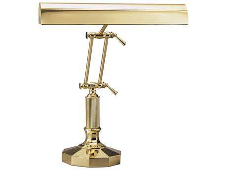 House of Troy Polished Brass Two-Light Piano & Desk Lamp