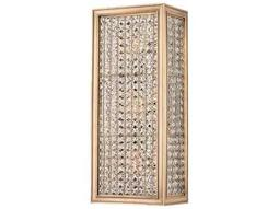 Hudson Valley Bold & Glamorous Norwood Aged Brass Three-Light 5.75'' Wide Wall Sconce