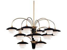 Hudson Valley Warm Modern Barron Aged Brass 15-Light 38.5'' Wide Grand Chandelier
