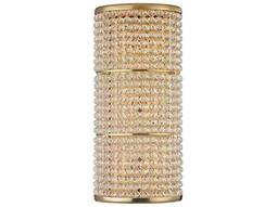 Hudson Valley Bold & Glamorous Sherrill Aged Brass Three-Light 14.75'' Wide Wall Sconce