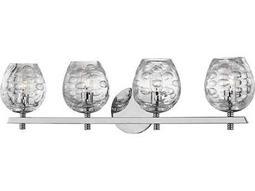 Hudson Valley Warm Modern Burns Polished Nickel Four-Light 26'' Wide Vanity Light
