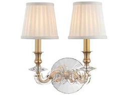 Hudson Valley Bold & Glamorous Lapeer Aged Brass Two-Light 12'' Wide Wall Sconce