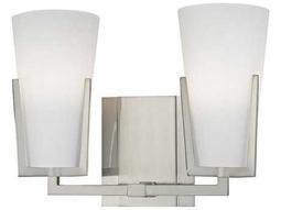 Hudson Valley Warm Modern Upton Satin Nickel Two-Light 11.5'' Wide Vanity Light