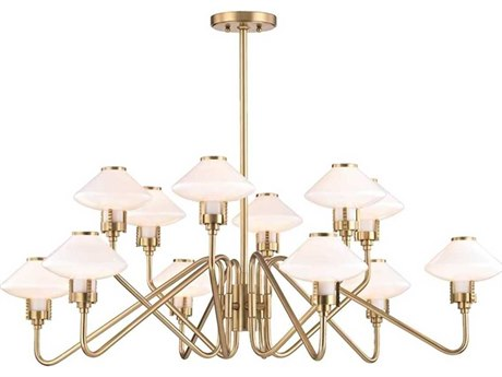 Hudson Valley Knowles Aged Brass 12-Light 43'' Wide LED Chandelier