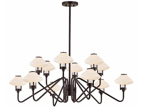 Hudson Valley Knowles Old Bronze 12-Light 43'' Wide LED Chandelier