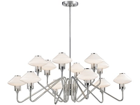 Hudson Valley Knowles Polished Nickel 12-Light 43'' Wide LED Chandelier