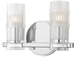 Hudson Valley Bold & Glamorous Malone Polished Chrome Two-Light 10.5'' Wide Vanity Light