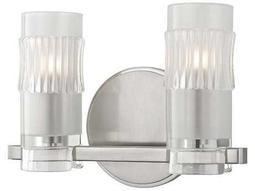 Hudson Valley Bold & Glamorous Malone Satin Nickel Two-Light 10.5'' Wide Vanity Light
