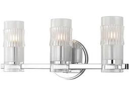 Hudson Valley Bold & Glamorous Malone Polished Chrome Three-Light 17'' Wide Vanity Light