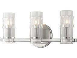 Hudson Valley Bold & Glamorous Malone Satin Nickel Three-Light 17'' Wide Vanity Light
