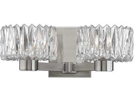 Hudson Valley Bold & Glamorous Anson Satin Nickel Two-Light 12.75'' Wide Vanity Light