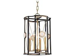 Hudson Valley Bold & Glamorous Cresson Aged Brass Four-Light 13.5'' Wide Mini-Chandelier