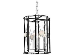Hudson Valley Bold & Glamorous Cresson Polished Nickel Four-Light 13.5'' Wide Mini-Chandelier