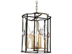 Hudson Valley Bold & Glamorous Cresson Aged Brass Eight-Light 18.5'' Wide Mini-Chandelier