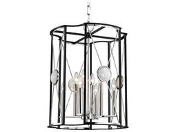 Hudson Valley Bold & Glamorous Cresson Polished Nickel Eight-Light 18.5'' Wide Mini-Chandelier