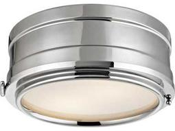 Hudson Valley Timeless Elegance Rye Polished Nickel Two-Light 11'' Wide Flush Mount Light