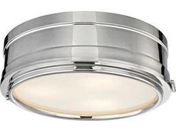 Hudson Valley Timeless Elegance Rye Polished Nickel Three-Light 14'' Wide Flush Mount Light