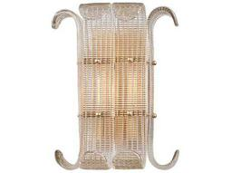 Hudson Valley Bold & Glamorous Brasher Aged Brass Two-Light 13'' Wide Wall Sconce