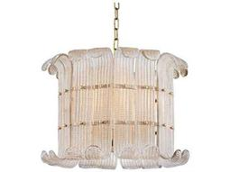 Hudson Valley Bold & Glamorous Brasher Aged Brass Eight-Light 22.75'' Wide Grand Chandelier