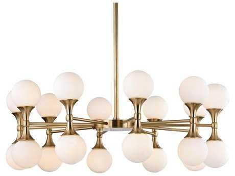 Hudson Valley Lighting Astoria Aged Brass 20-Light 36'' Wide LED Chandelier