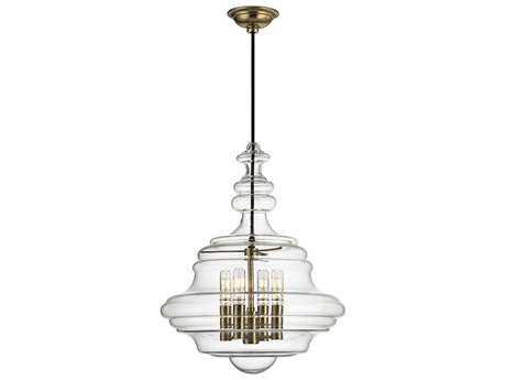 Hudson Valley Timeless Elegance Washington Aged Brass Four-Light 15.5'' Wide Mini-Chandelier