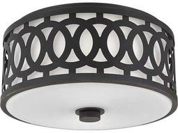 Hudson Valley Classic Heritage Genesee Old Bronze Two-Light 13.5'' Wide Flush Mount Light