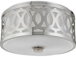 Hudson Valley Classic Heritage Genesee Polished Nickel Two-Light 13.5'' Wide Flush Mount Light