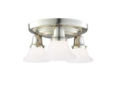 Hudson Valley Lighting Edison Collection Chic Vintage & Industrial Three-Light Flush Mount Light
