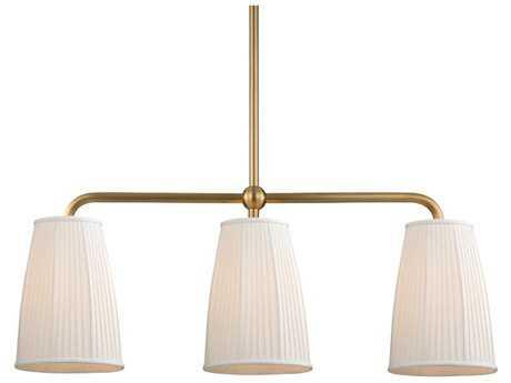 Hudson Valley Timeless Elegance Malden Aged Brass Three-Light 44'' Wide Island Ceiling Light