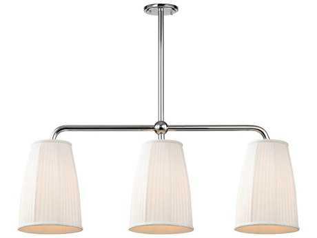 Hudson Valley Timeless Elegance Malden Polished Nickel Three-Light 44'' Wide Island Ceiling Light
