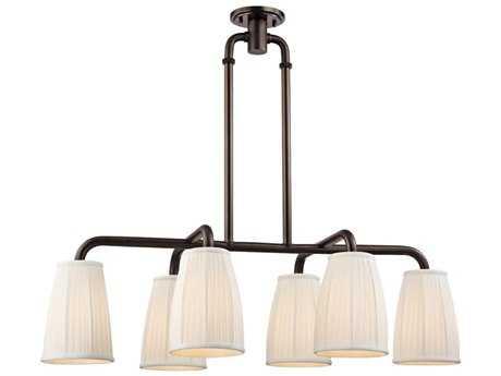Hudson Valley Timeless Elegance Malden Distressed Bronze Six-Light 41.25'' Wide Island Ceiling Light