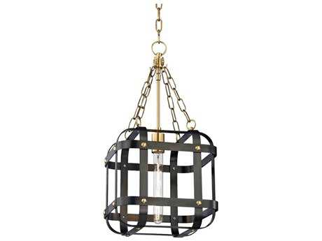 Hudson Valley Chic Vintage & Industrial Colchester Aged Old Bronze 11.75'' Wide Mini-Pendant