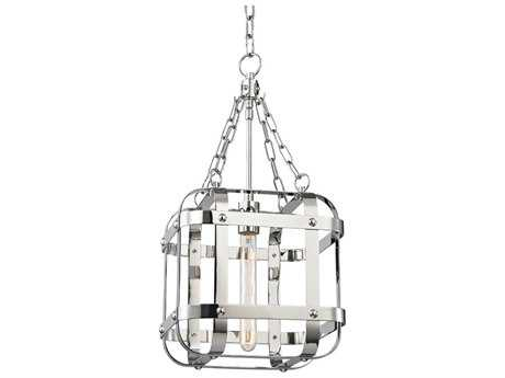 Hudson Valley Chic Vintage & Industrial Colchester Polished Nickel 11.75'' Wide Mini-Pendant