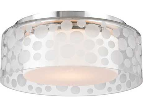 Hudson Valley Bold & Glamorous Carter Satin Aluminum 11'' Wide Flush Mount Light