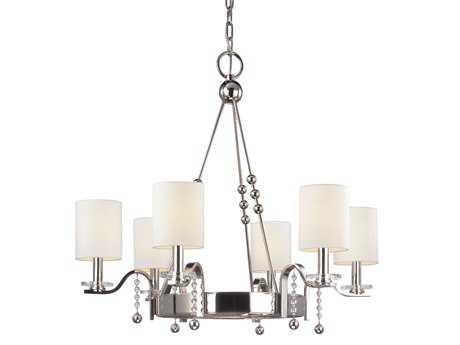 Hudson Valley Lighting Bolton Bold & Glamorous Six-Light Polished Nickel Chandelier