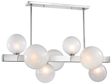 Hudson Valley Lighting Hinsdale Polished Nickel Seven-Light 43.5'' Wide G9 Xenon Island Light