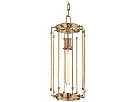 Hudson Valley Lighting Hyde Park Aged Brass 8.5'' Wide Pendant Ceiling Light