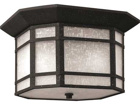 Hinkley Lighting Cherry Creek Vintage Black Two-Light CFL Outdoor Ceiling Light