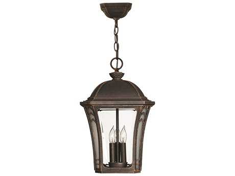 Hinkley Lighting Wabash Mocha Three-Light Incandescent Outdoor Pendant Light