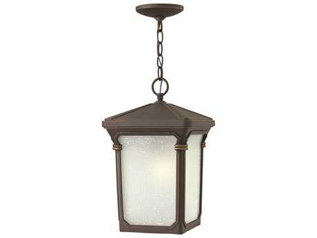 Hinkley Lighting Stratford Oil Rubbed Bronze Incandescent Outdoor Pendant Light