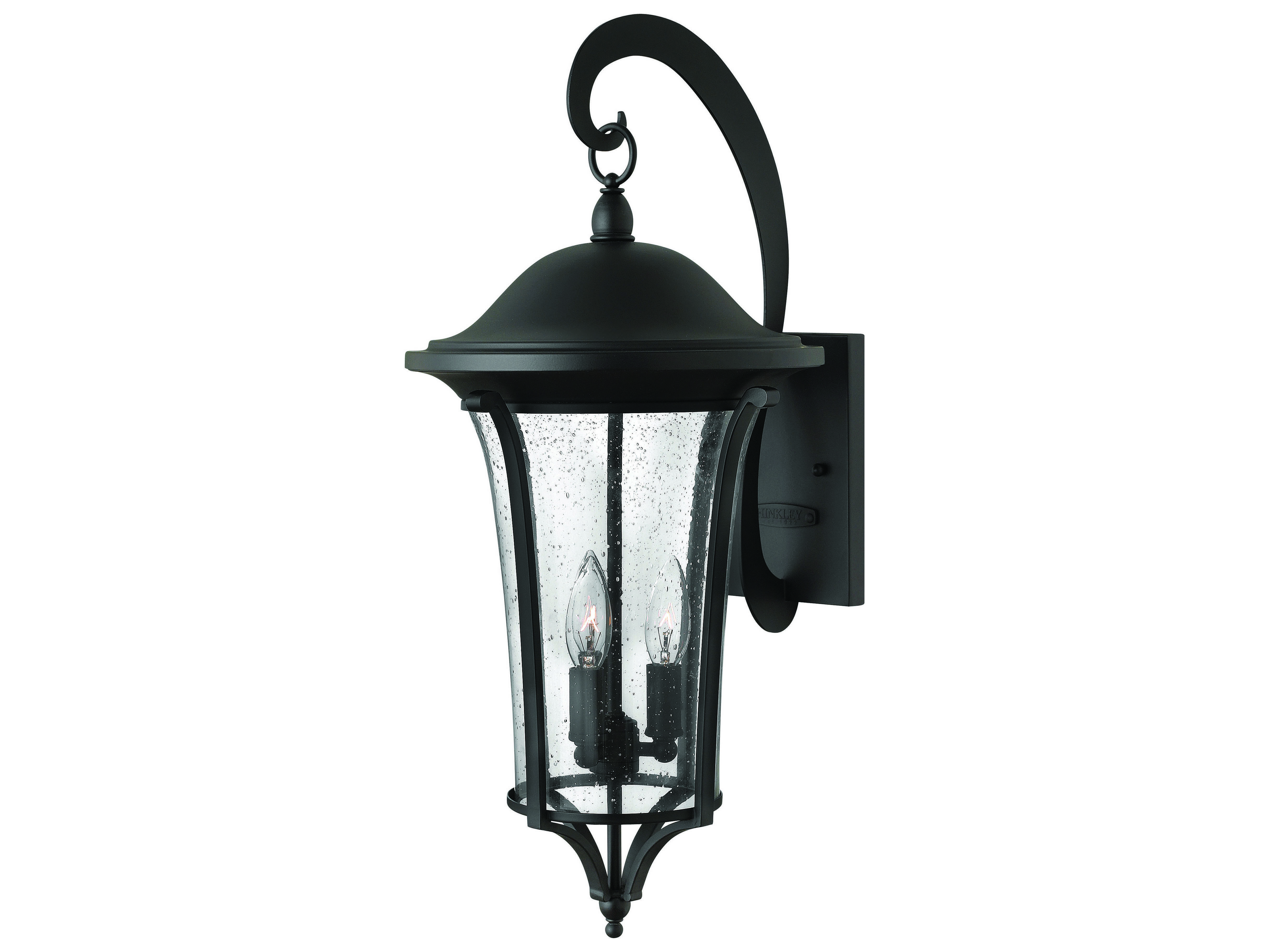 hinkley lighting chesterfield black three light outdoor wall light hy1385bk. Black Bedroom Furniture Sets. Home Design Ideas